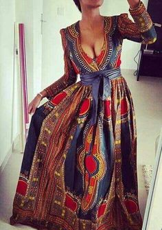Dashiki maxi dress by DEAFRICANSHOP on Etsy