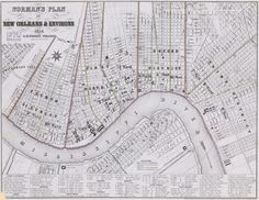 Norman's plan of New Orleans & environs, 1854. | Library of Congress