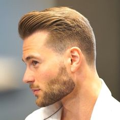 – Men's Hairstyles and Beard Models Cool Hairstyles For Men, Popular Hairstyles, Hairstyles Haircuts, Haircuts For Men, Hair And Beard Styles, Short Hair Styles, Swept Back Hair, Beard Haircut, Latest Haircuts