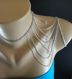 Unique Shoulder Necklace Chain by IndependentAccents on Etsy, $45.00