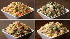 Cauliflower Fried Rice 4 Ways Here is what you& need! Cauliflower Rice Serves 1 INGREDIENTS 1 cauliflower head PREPARATION Remove all leaves and cut the cauliflower into small & The post Cauliflower Fried Rice 4 Ways appeared first on Pinfo Board. Hcg Diet Recipes, Easy Healthy Recipes, Easy Dinner Recipes, Cooking Recipes, Veggie Fried Rice, Cauliflower Fried Rice, Cena Paleo, Carb Cycling Diet, Cauliflowers