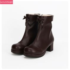 Find More Women's Boots Information about Autumn/Winter Brown Leather Chunky Heel Lolita Princess Boots with Short Plush Inside,High Quality boot fox,China boots cherry Suppliers, Cheap boots news from Lorie & Knight on Aliexpress.com