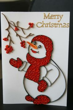 Quilling snowman