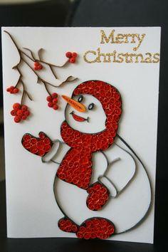 Muñeco de nieve en filigrana
