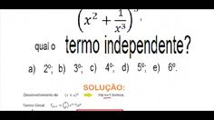 Curso de Matemática Cálculo do termo independente do Binômio de Newton T...