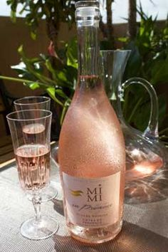 """MIMI EN PROVENCE rosé wine of Provence. Wine Spectator: This wine is """"fresh, with rose petal, strawberry and white cherry notes, presenting a light, lacy finish. Fancy Drinks, Bar Drinks, Yummy Drinks, Alcoholic Drinks, Beverages, Roses Tumblr, Alcohol Aesthetic, Provence Rose, Wine Direct"""