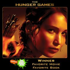 Thanks to YOU, #TheHungerGames celebrates its 1 YEAR anniversary by winning Favorite Movie & Favorite Book at the Nickelodeon Kids' Choice Awards! #KCA