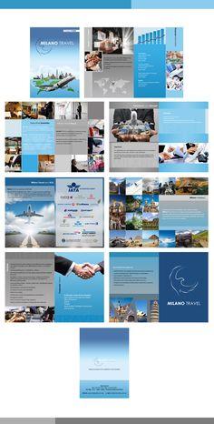 Milano Travel Company Profile Brochure by wafa mohammed, via Behance