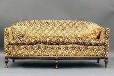 Miss Miranda | Vintage Green and Pink Floral Sofa