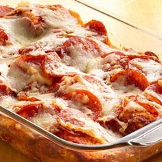 4-Ingredient Pizza Bake - you may never make a regular pizza again!
