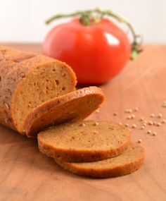 Seitan Pepperoni 1 1/4 C vital wheat gluten 1/4 C nutritional yeast 3/4 tsp salt 2-3 tsp paprika 1 tsp freshly ground black pepper 1/2 tsp red pepper flakes (use more for spicier pepperoni) 1 tsp m…