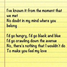 I Want To Make You Feel Wanted Lyrics