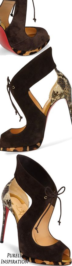 Pre-Order Christian Louboutin Campanina Genuine Calf Hair Lace-Up Sandal | Purely Inspiration