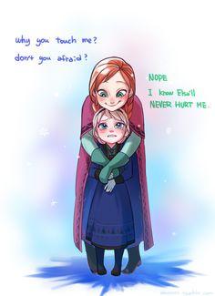 「【アナ雪】姉妹がイチャイチャするだけ【ログ】」/「A-KA」の漫画 [pixiv]
