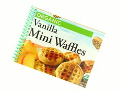 VANILLA MINI WAFFLES recycled spiral bound journal by RosiesBooks, $7.00