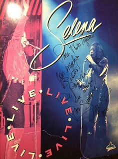 Live Selena music poster Selena Quintanilla