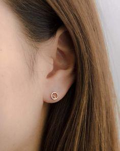 Flower Stud Earrings - floral earrings/ cluster earrings/ sparkly studs/ romantic earrings/ bridal jewelry/ gifts for her/ flower girl gift - Fine Jewelry Ideas Cluster Earrings, Diamond Earrings, Stud Earrings, Small Earrings, Gold Earrings Designs, Minimalist Earrings, Jewelry Gifts, Jewelery, Bridal Earrings