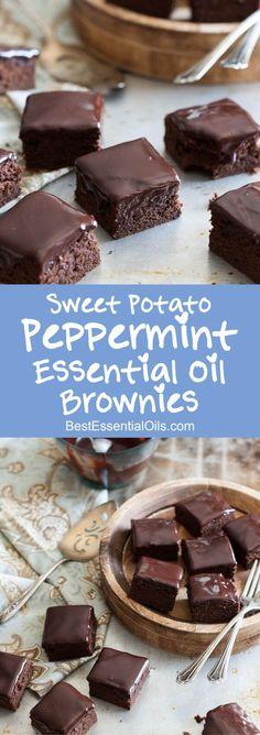 Sweet Potato Peppermint Essential Oil Brownies Recipe