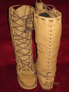 leather moccasin patterns   Patterns Leather Moccasin Buckskin Plainsman Boots Pictures