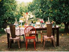 A whimsical picnic in a secret garden...