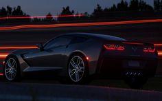 Herunterladen hintergrundbild chevrolet corvette stingray c7, 2017 autos nacht, supersportwagen, chevrolet