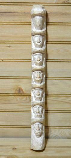 Vintage H. L. Enlow Sculpture Relief Cowboy Face Carving Stick Study Educational…: