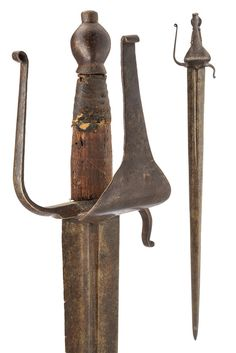 Lot 233 - A sword dating: 17th Century provenance: Venice Wide, double-edged…