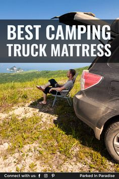 Campers recommend the best pickup truck and SUV air mattresses for camping. Which features to look for, best materials, sizing and price. Camping Mattress, Truck Camping, Air Mattress, Tent Camping, Truck Bed Camper, Diy Camper, Best Pickup Truck, Pickup Trucks, Inflatable Bed