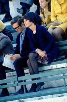Audrey Hepburn with her husband Andrea Dotti at the Stadio de Marmi Rome, Italy 1970.
