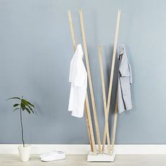 Pin Coat Clothes Rack - by Oliver Bahr for Nils Holger Moormann | MONOQI #DesignIcons