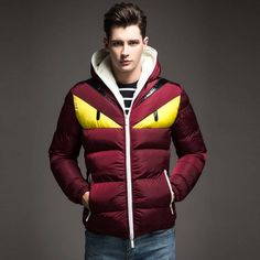 c8f6c5ce30c87 Port And Lotus Down Coat Jacket Printed Thick Hat Men Casual Wear New  Thumbnail