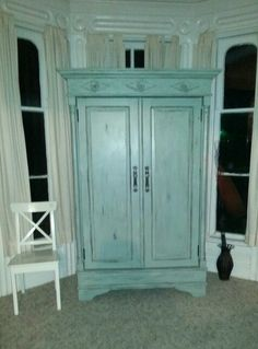 Beautiful Large Scale Armoire. Stratton Blue By Benjamin Moore. Visit * My  Eclection