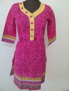 Pink Color Pure Cotton Kurti From Best Cotton Kurti Collection  (Offer Price: Rs 449 , Offered Discount: 50%) ** BUY NOW ** [MRP: Rs 899]