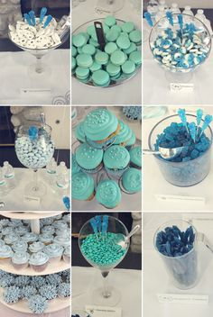 Ideas Fiesta Bridal Shower Decorations Candy Bars For 2019 Mermaid Bridal Showers, Bridal Shower Games, Bridal Shower Decorations, Blue Candy Bars, Blue Candy Buffet, Candy Table, Baby Shower, Wedding Candy, Shower Cakes