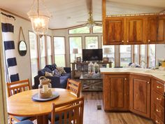 Northland cottager classic remodel. Park model trailer renovation nautical style