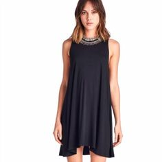 Tunic Tank Dress 95% Rayon, 5% Spandex, dress it up or down, loose contemporary fit for summer. April Spirit Dresses
