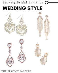 Bridal Earrings, Bridal Jewelry, Drop Earrings, Wedding Dress Accessories, Jewelry Accessories, Chandelier Earrings, Bridal Style, Fashion Earrings, Bridal Dresses