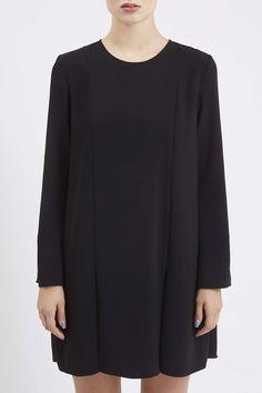 Crepe Pleated Hem Dress by Boutique - Topshop