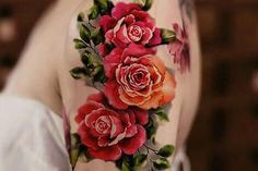 Vintage Rose Temporary Tattoo