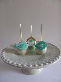 Cakepops para aniversário de menino - Passarinho