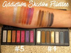 New Younique Addiction Shadow Palette #4 and #5 YouniquelyBeautifulbyChelsey.com