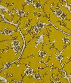 Robert Allen @ Home Vintage Blossom Citrine Fabric - $18.6 | onlinefabricstore.net for office chairs