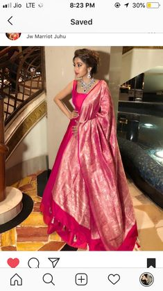 Anarkali gown with Heavy Banarasi Dupatta : Pink Anarkali . Anarkali Gown, Saree Dress, Anarkali Suits, White Anarkali, Indian Anarkali, Indian Gowns Dresses, Pink Gowns, Mode Bollywood, Indian Designer Suits