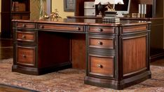 Desk in Cappuccino / Dark Oak - Coaster - Executive Office Collection in Cappuccino / Dark Oak - Coaster