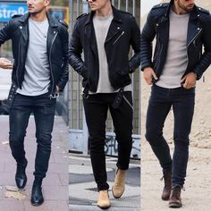 No photo description available. Stylish Mens Outfits, Cool Outfits, Casual Outfits, Leather Jacket Outfits, Men's Leather Jacket, Smart Casual Menswear, Men Casual, Herren Outfit, Latest Mens Fashion