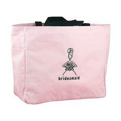 Bridesmaid Pink Tote #hortensebhewitt #bag #tote #wedding #gift