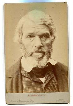 "LARGE CDV of Thomas Carlyle - Scottish Philosopher, Satirical Writer, Essayist, Historian. Sized 4"" x 6"", London Stereoscopic Company."