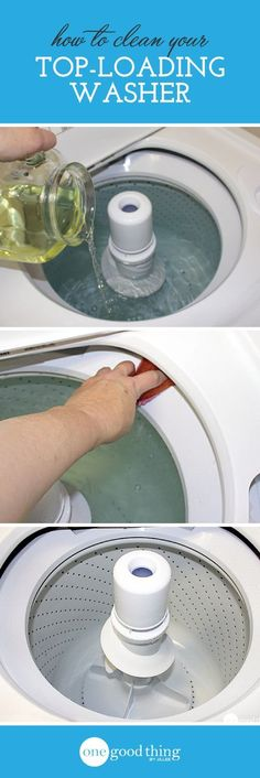 How to clean your top-loading washer!