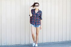 Keds and Plaid - perfect pair!
