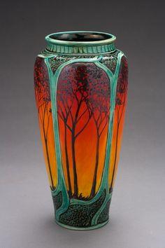 new vase still warm from the kiln Pottery Houses, Pottery Art, Antique Pottery, Pottery Mugs, Ceramic Pottery, Art Nouveau, Art Decor, Decoration, Vases
